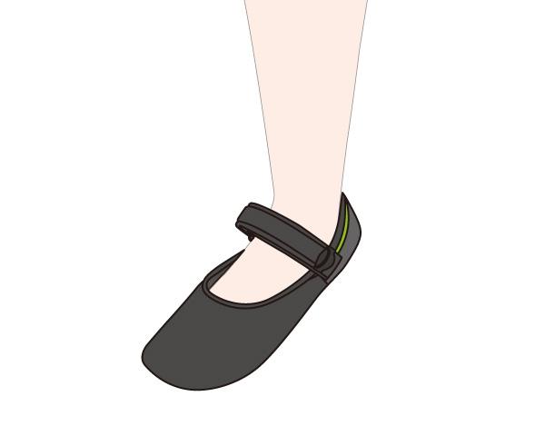 Gaitfix(ゲイトフィックス)使用例 普段の室内履きとして