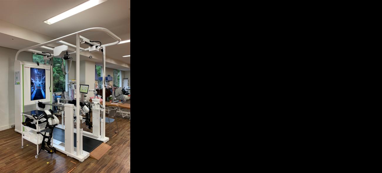 """TOYOTA自動車株式会社製、歩行訓練ロボットWel-walk®️脳血管疾患者に対するリハビリ、イメージ図"